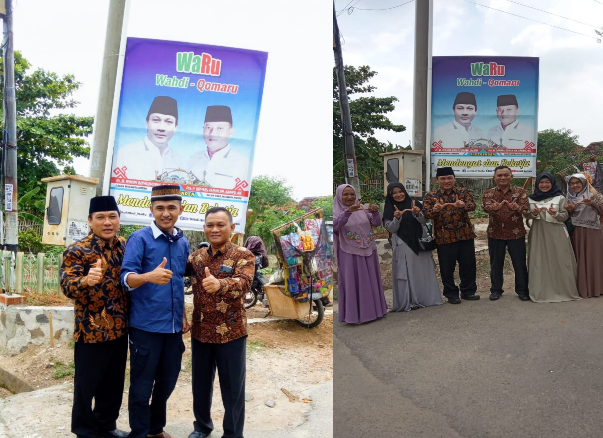 Warga bambu kuning foto bersama calon Walikota Metro